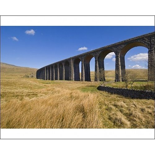 Photographic Print of Ribblehead railway viaduct
