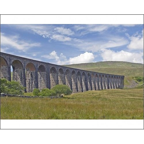 Print of Ribblehead railway viaduct