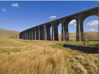 Ribblehead Railway Viaduct on Settle to Carlisle Rail Route (Print) by Neale Clark
